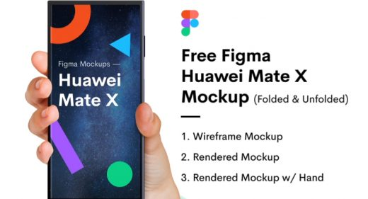 Huawei Mate X Free Figma mockup