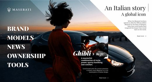 Maserati Figma template and animation