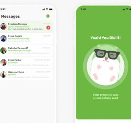 Upwork app redesign for Figma
