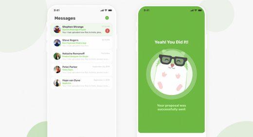 Upwork app redesign for Figma