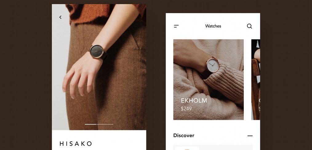 Watch ecommerce app Figma concept