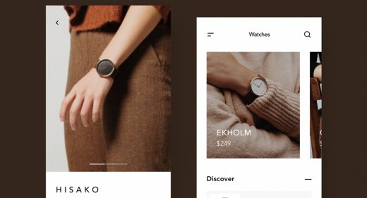 Watch ecommerce app Figma concept