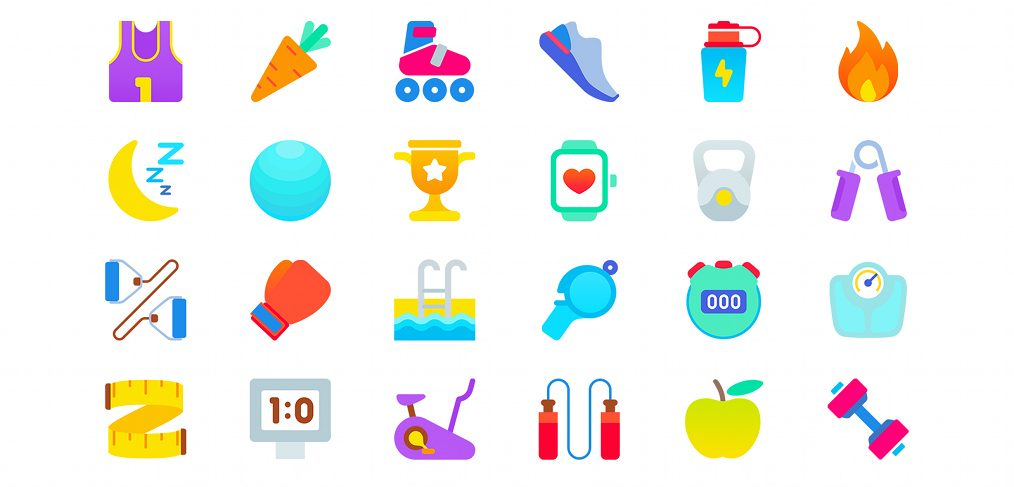 24 free sports icons for Figma