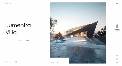 Architects homepage Figma template