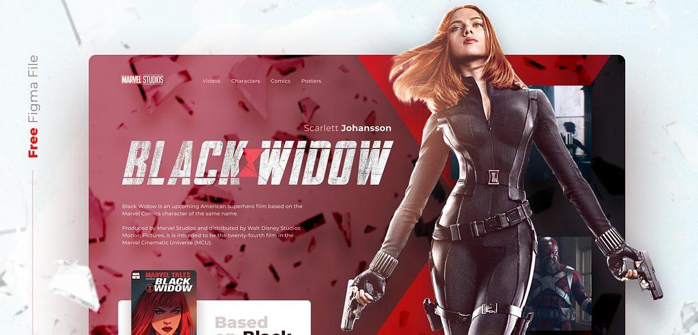 Black Widow website concept