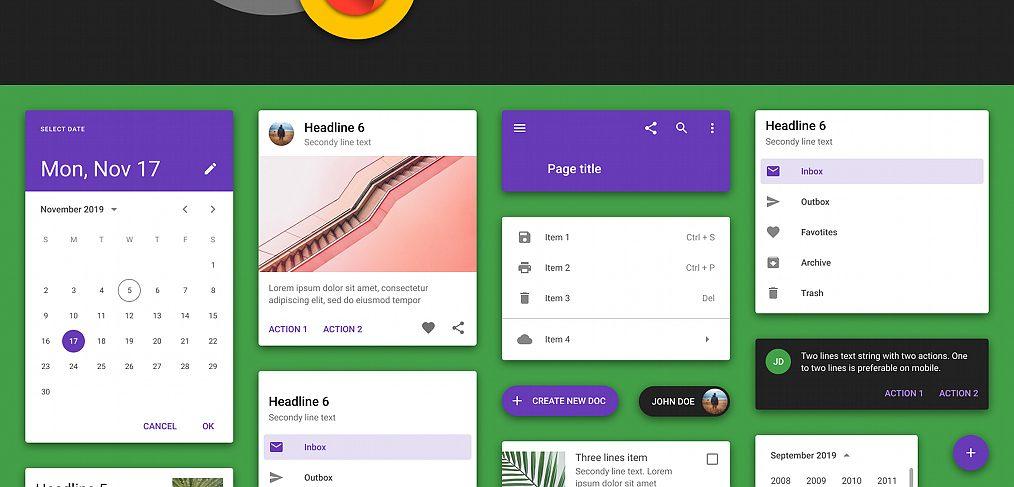 Free Figma Material design UI kit