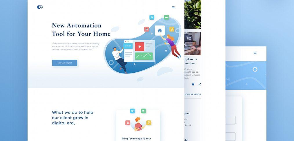 Smart home website Figma template