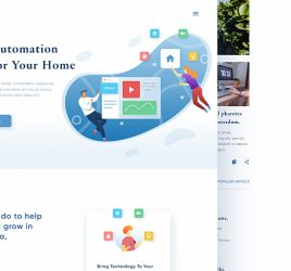 Smart home website Figma template