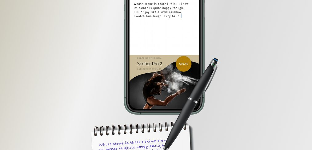 Smart scribe pen Figma freebie