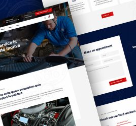 Auto repair Figma homepage template