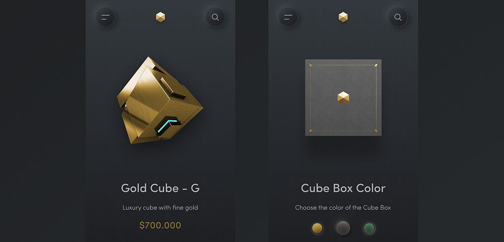 Cube store app for Figma