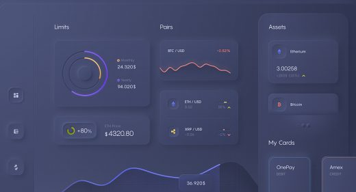 Dark Figma dashboard template
