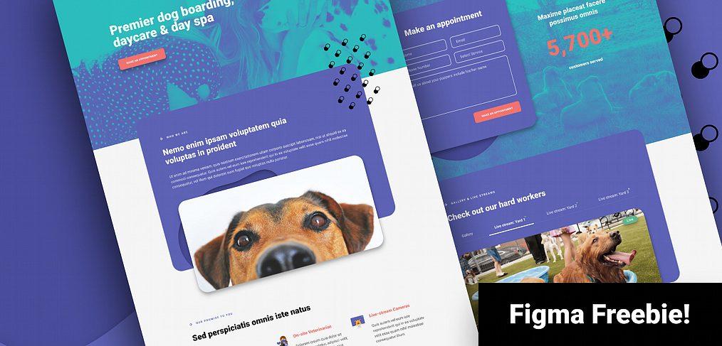 Dog daycare Figma website template