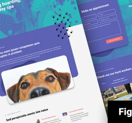 Dog daycare Figma website template