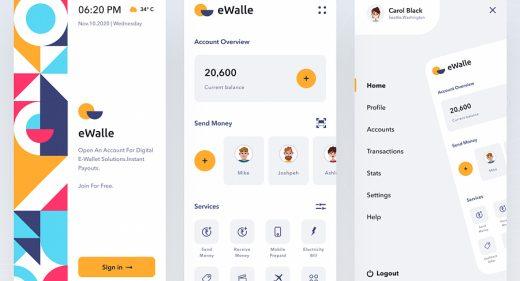 e-Wallet Figma app template