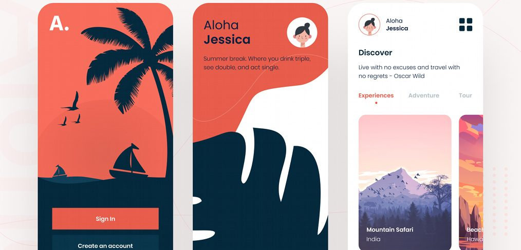 Figma travel app template