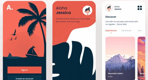 Figma travel app template