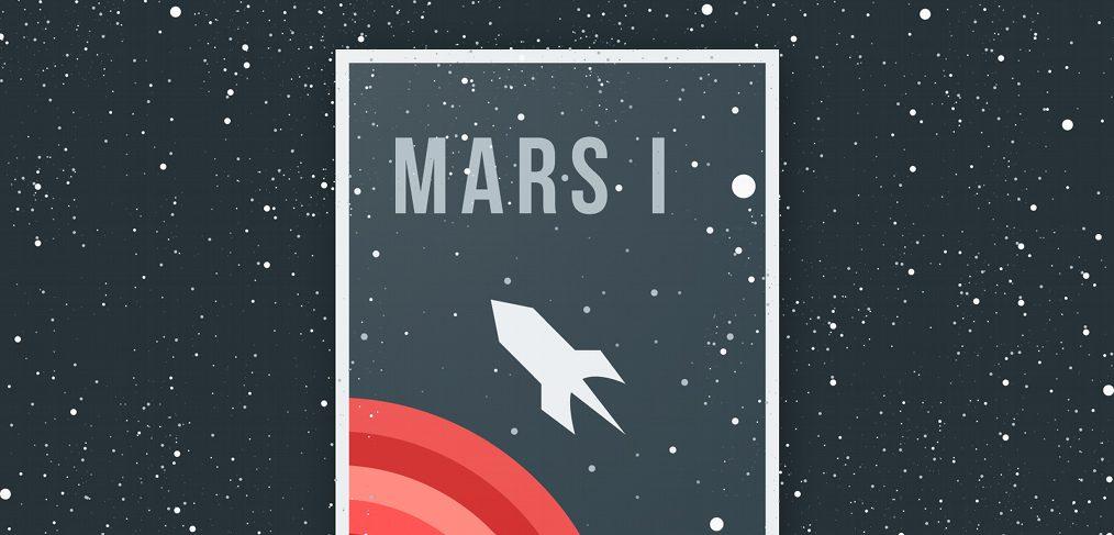 Mars One 2020 Figma illustration