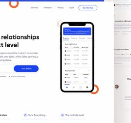 Relationz free Figma landing page