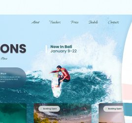 Surf school Figma website template