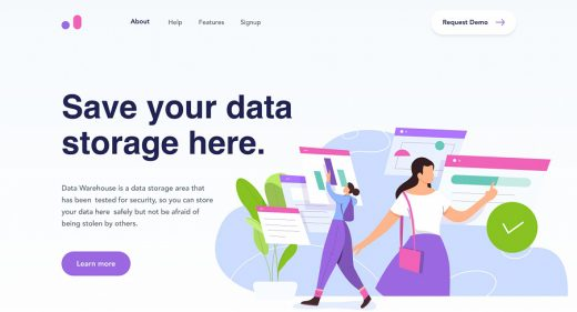 Data warehouse Figma template