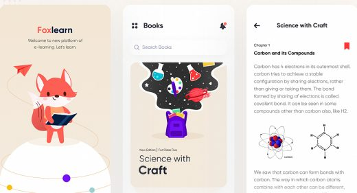 E-learning app Figma template