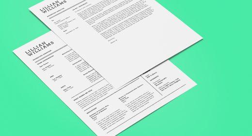 Free Figma CV template