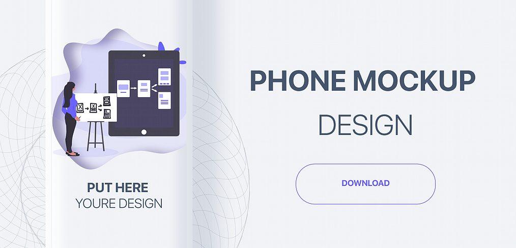 Generic phone mockup for Figma