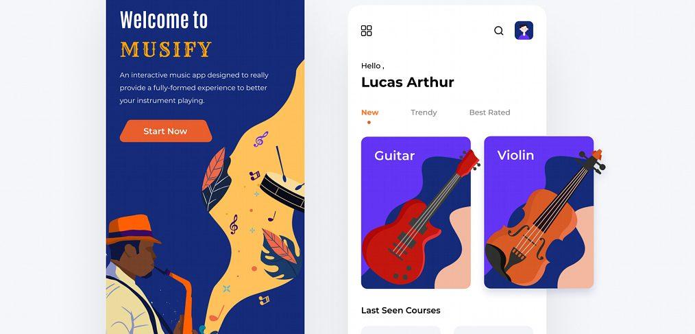 Music app Figma mobile concept