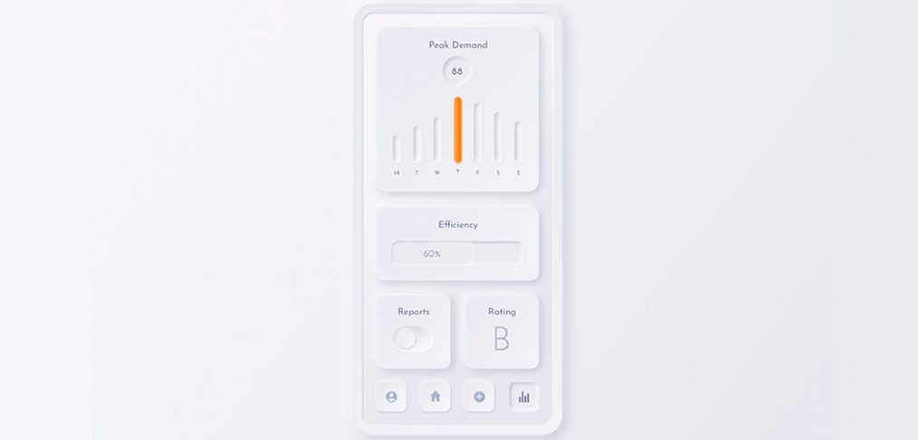 Neumorphic Figma mobile concept