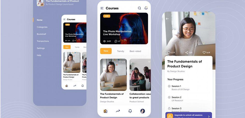 Online course Figma app template