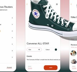 Figma ecommerce product screen