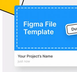 Figma file template freebie