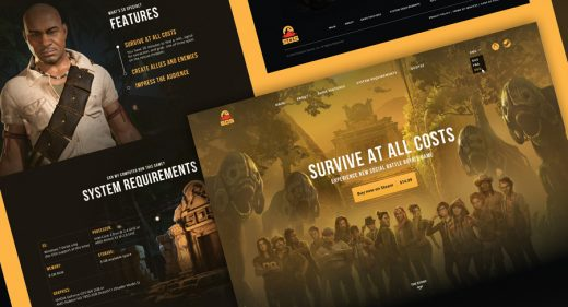 Figma Gaming landing page template