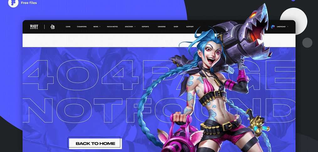 Gaming figma 404 page template