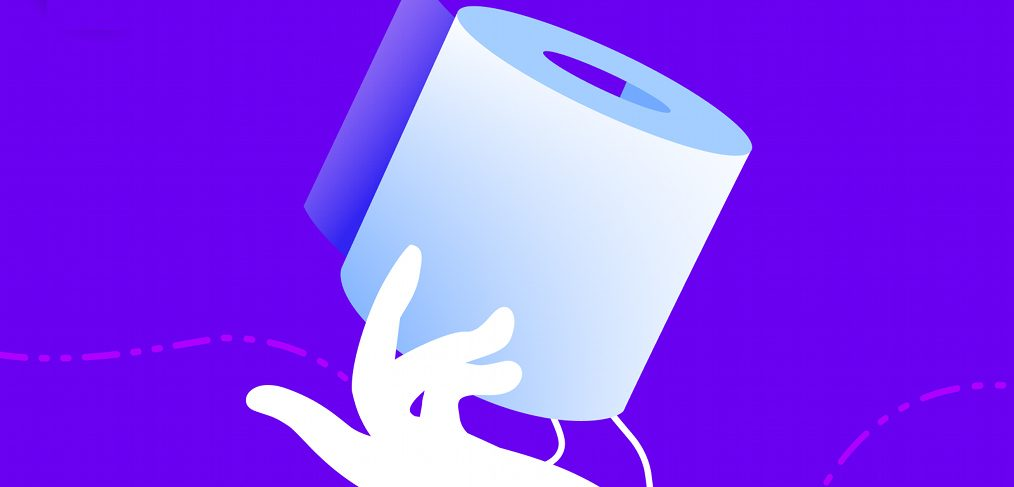 Toilet paper Figma vector illustration