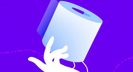 Toilet paper Figma vector illustration