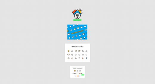 Figma free weather icon set