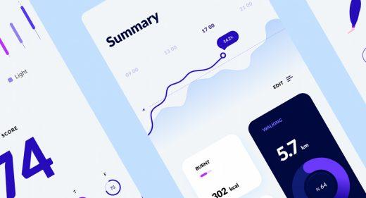 Figma health app free template