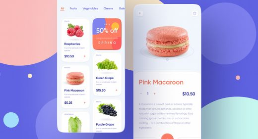 Foodstuffs Figma app template