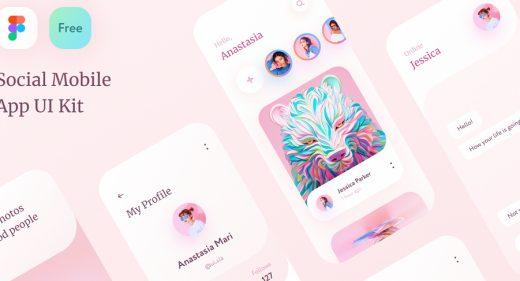 Free Figma Social App UI Kit