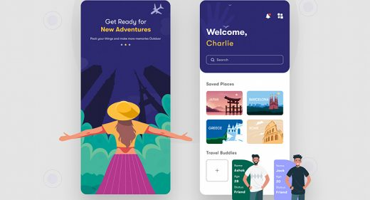 Free Figma travel app exploration
