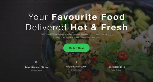 Free food Figma landing page