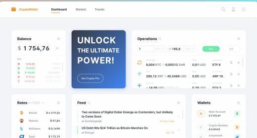 Crypto market Figma template
