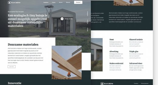 EcoCabins Figma landing page template