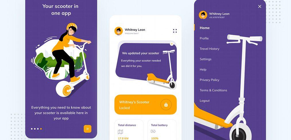 Figma E-scooter dasboard concept