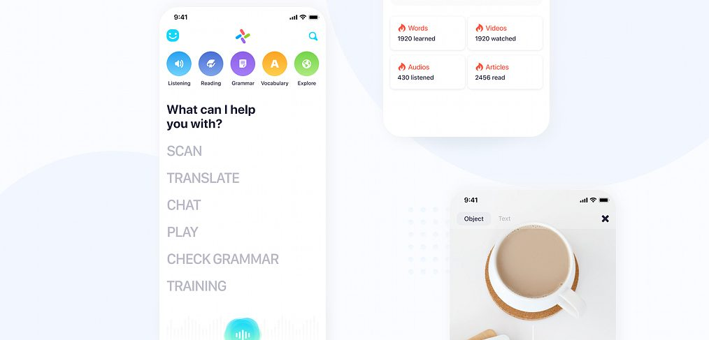 Figma language learning app template