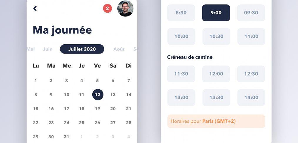 Free Figma mobile calendar template
