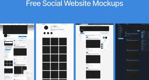 Free social websites Figma mockups