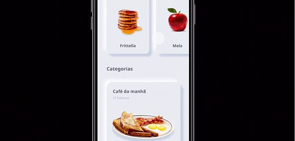 Learn Italian neumorphic app
